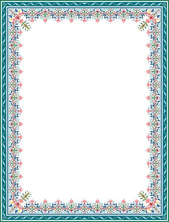 Detailed floral ornament border frame