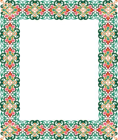 a4 borders: Classica bordo spesso ornate, colorato Vettoriali