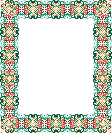 Classical ornate thick border, colored Illustration