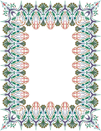 Classical ornate very thick border, colored Vector