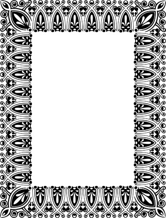 Beautiful ornate thick frame, monochrome Vector