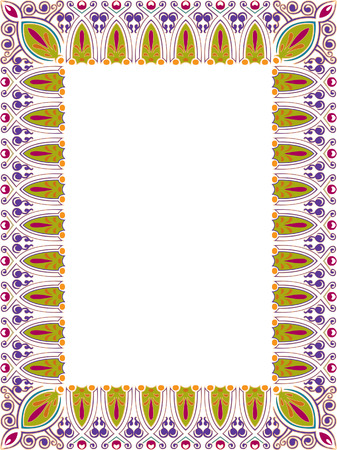 Beautiful ornate thick frame, colored Vector