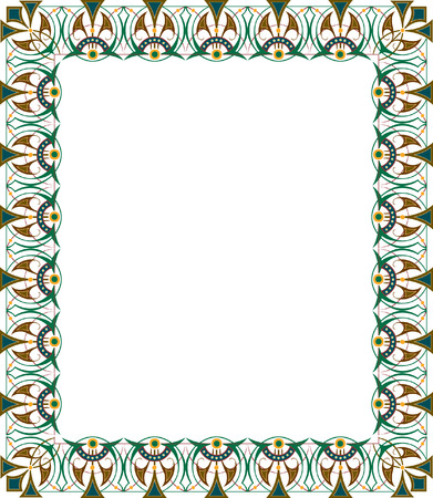 Oriental ornament photo frame, colored Vector