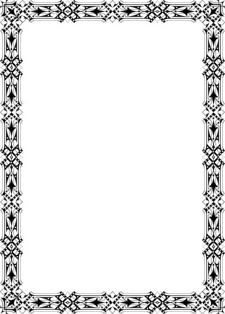 Classical ornate border, monochrome Stock Vector - 23314193