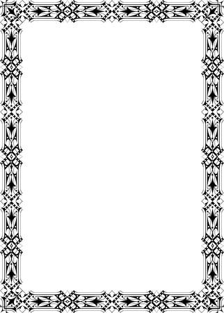 Classical ornate border, monochrome Stock Vector - 23314193