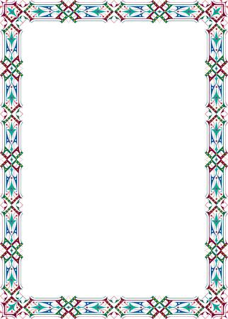 a4 borders: Frontera adornada cl�sica, de color