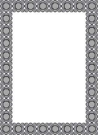 Arabesque style, border frame, monochrome Vector