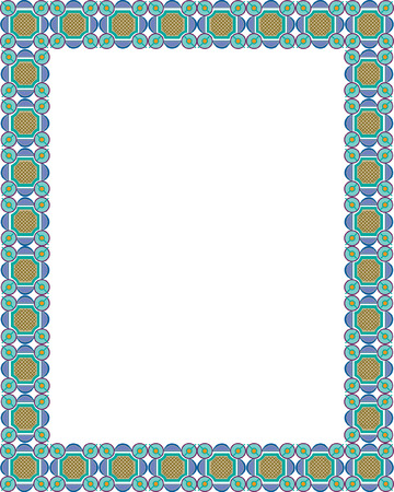 Arabesque style, border frame, colored Vector