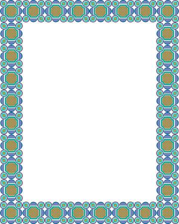 Arabesque style, border frame, colored Stock Vector - 23314435