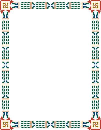 a4 borders: Classical ornate border, colored Illustration