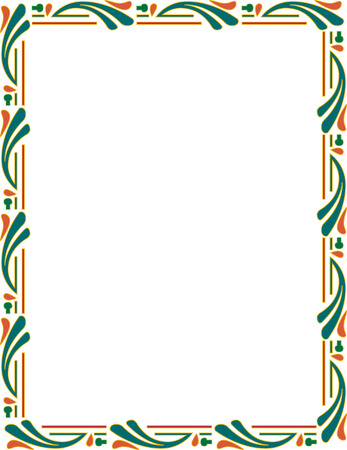 Beautiful ornate frame, colored Vector