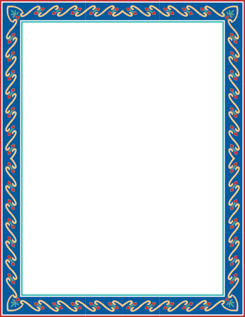 Basic lines ornate border, colored Vector