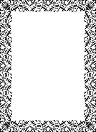Elegant design for vector frame, monochrome Vector