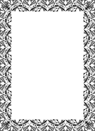Elegant design for vector frame, monochrome Illustration