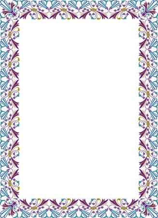 a4 borders: Design elegante per il telaio vettore, colorato