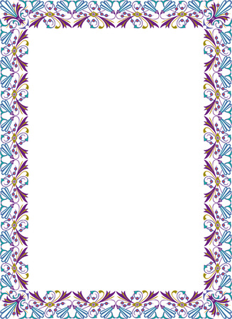 Elegant design for vector frame, colored