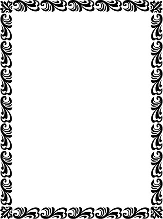 Beautiful basic design, border frame in vector lines, monochrome Stock Vector - 23314461