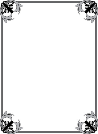 Klassieke overladen grens, monochroom Stock Illustratie