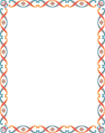 Beautiful basic border frame, colored Vector