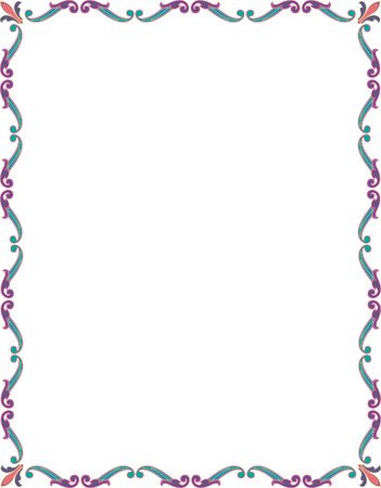 Beautiful basic border frame, colored Stock Vector - 23314468