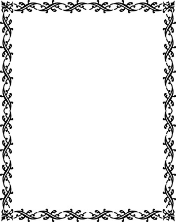 Beautiful basic border frame, monochrome Stock Vector - 23314470