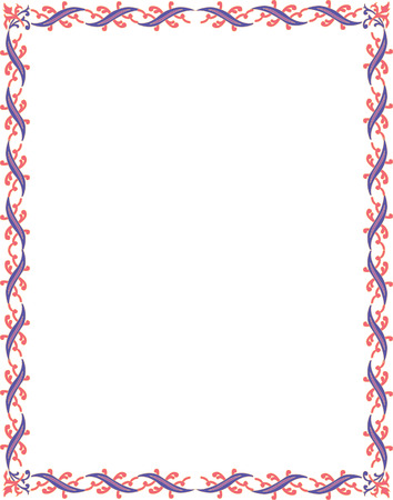 Beautiful basic border frame, colored Stock Vector - 23314467