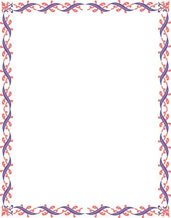Marco de la frontera b�sica hermoso, de color