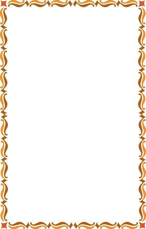 a4 borders: Garnished frame, colored Illustration