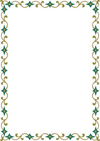 Garnished frame, colored Vector