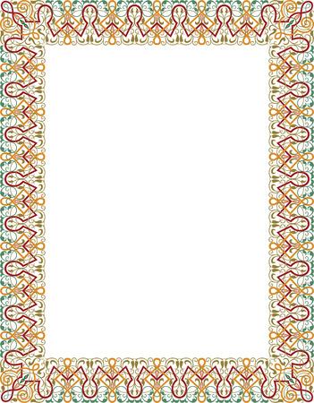 garnished: Garnished thick vector frame, Colored