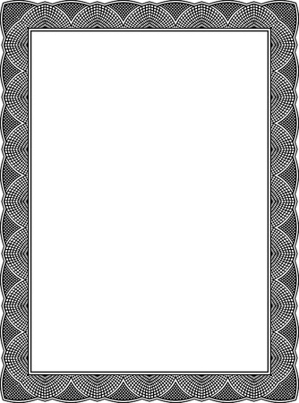 grayscale: Tiled mesh vector frame, Grayscale Illustration