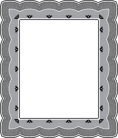 thick: Tiled mesh vector frame, thick, Grayscale