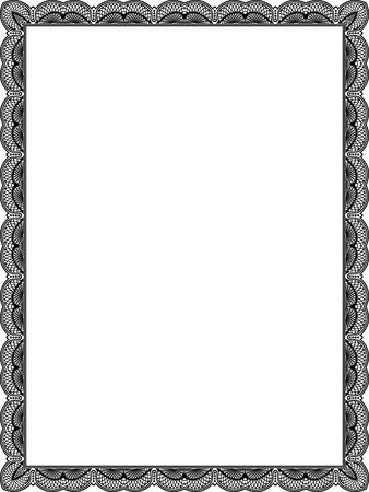 Carrelé cadre de vecteur de maille, mince, noir et blanc Vecteurs