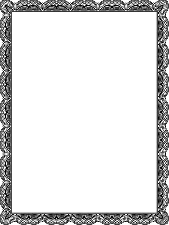 Tiled mesh vector frame, thin, Black and White