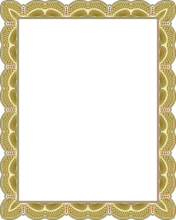 thick: Tiled mesh vector frame, Colored