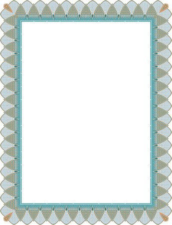 garnished: Tiled mesh vector frame, Colored