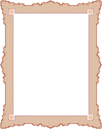 certificate frame: Classical mesh photo frame, Colored Illustration