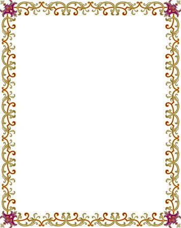 Kader ingericht, Gekleurde Stock Illustratie