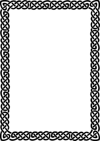 simple frame: Simple lines vector frame, Black and White
