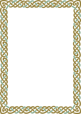 Simple lines vector frame, Colored Stock Vector - 23562527