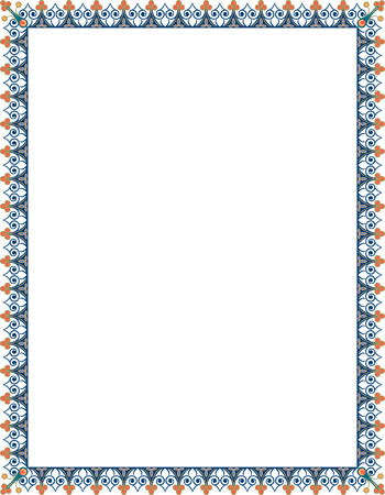 thick: Elegant style vector frame, Colored