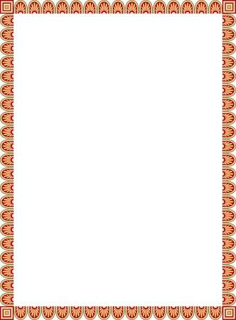 Cadre de vecteur de carrelage simple, coloré Banque d'images - 23562531