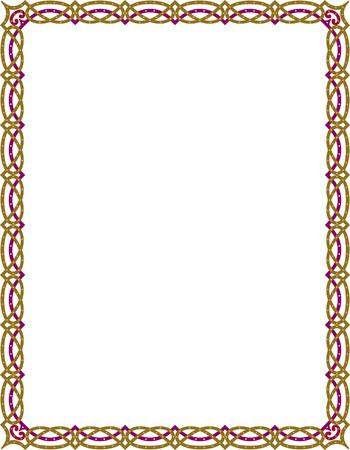 color�: Simple cadre de vecteur de lignes, de couleur