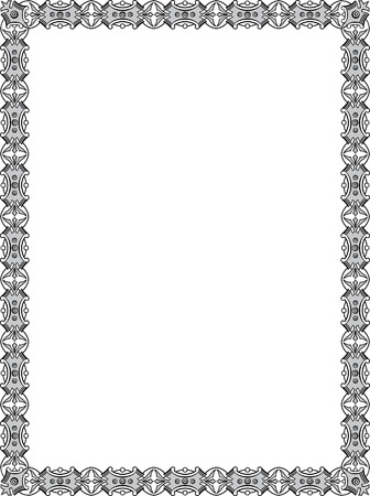 em tons de cinza: Azulejo vector quadro ornamentado, em tons de cinza