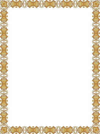 thick: Tiled ornate vector frame, Colored