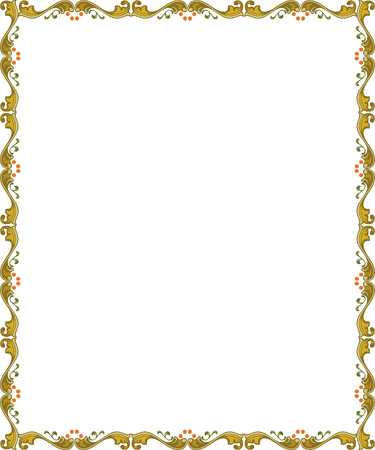 Simple tiling vector frame, Colored