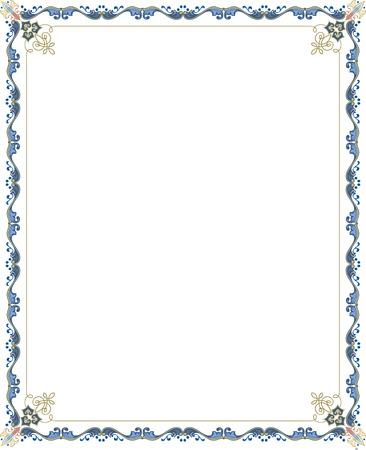 garnished: Garnished vector frame, Colored Illustration