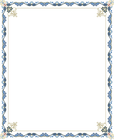 Vector marco adornado, coloreado Foto de archivo - 23562665