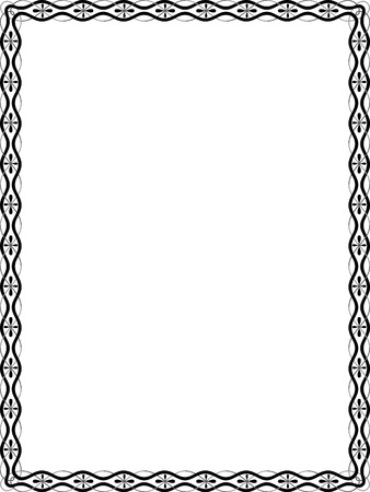 Simple lines vector frame, Grayscale