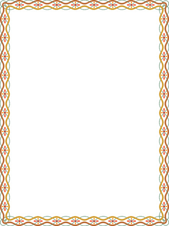 Simple lines vector frame, Colored Vector